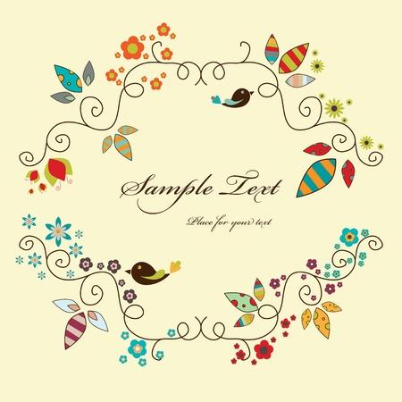 season greetings: cadre �l�gant floral