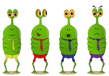 picture with for funny characters and different emotions Vector