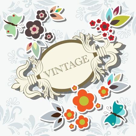 floral elegant frame Stock Vector - 10059900
