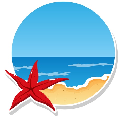 beach and sea Vector