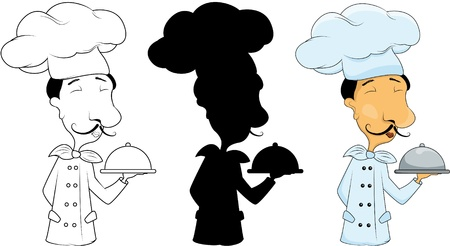 set with 3 chefs Vector