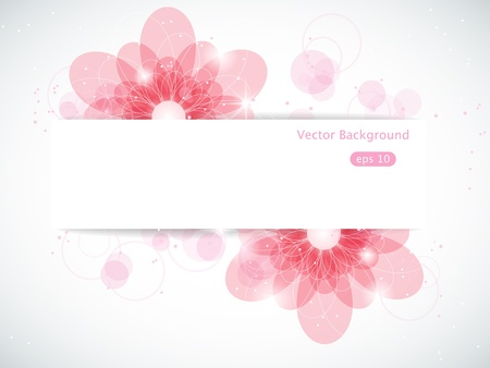 abstract background with pink flowers Vector