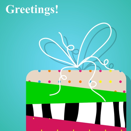 Vector picture of gift box