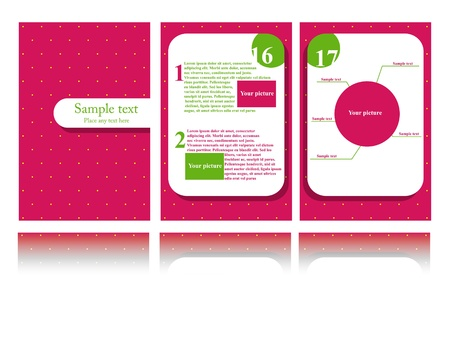 Vector pink brochure design Stock Vector - 10200963