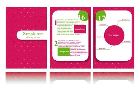Vector pink brochure design