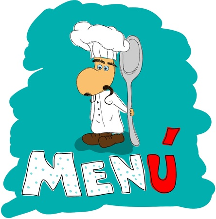 Vector menu pattern with italian chef Vector