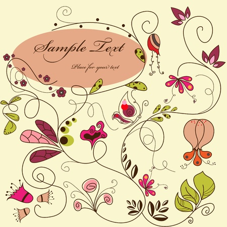 Vector floral background Stock Vector - 10291248