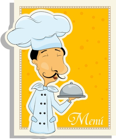 Vector menu pattern with italian chef
