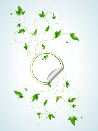 Vector background with green plants Stock Vector - 10291251