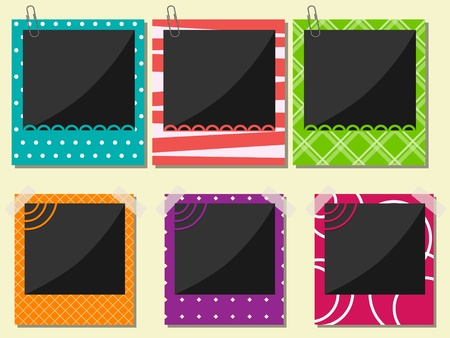 Vector photo frame set Stock Vector - 10291221
