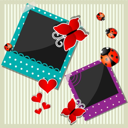 Vector picture with photo frames Stock Vector - 10291246