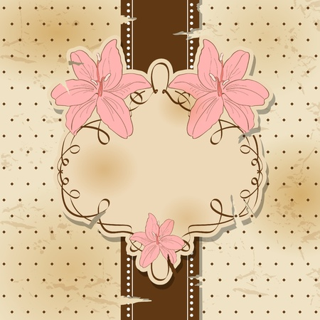 Vector vintage greeting card Vector