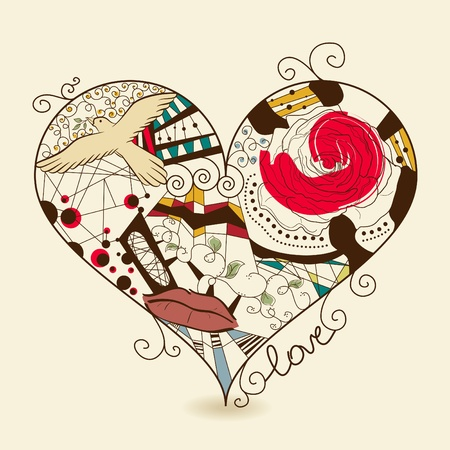Vector picture of abstract heart Stock Vector - 10348541