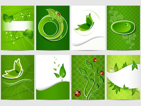 Vector eco design background set Stock Vector - 10348545