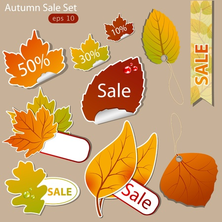 pattern of discount. Autumn Vector
