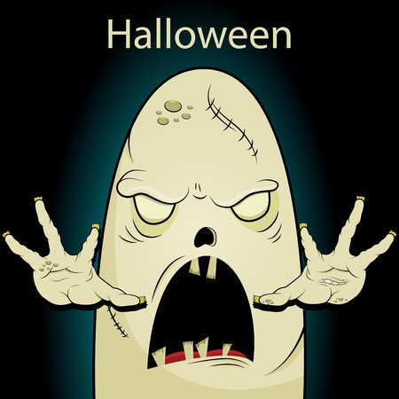 Halloween picture with ghost Stock Vector - 10420344