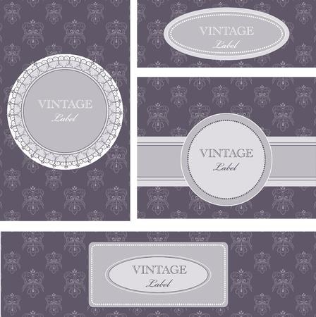 Vector vintage cards Vector