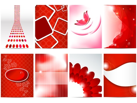 Vector red brochure design set Stock Vector - 10455794
