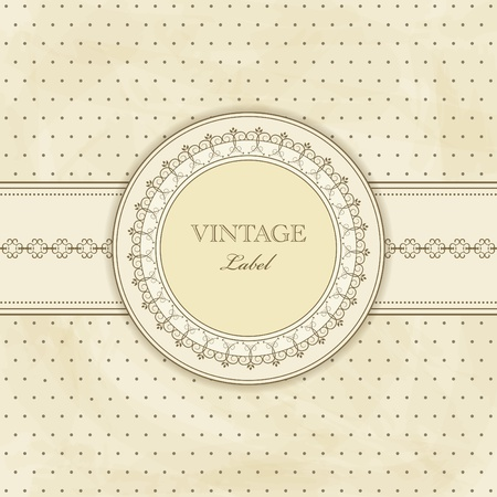 postcard box:  vintage pattern for  invitation Illustration
