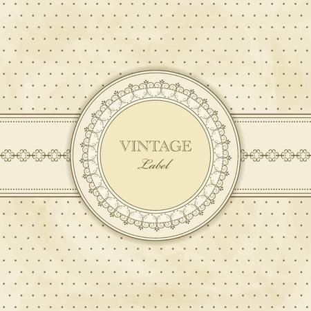 vintage style:  vintage pattern for  invitation Illustration