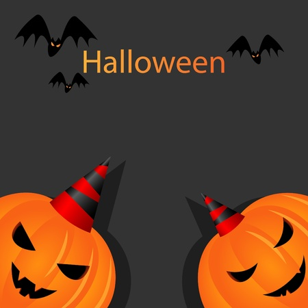 carved pumpkin: halloween picture with pumpkins Illustration