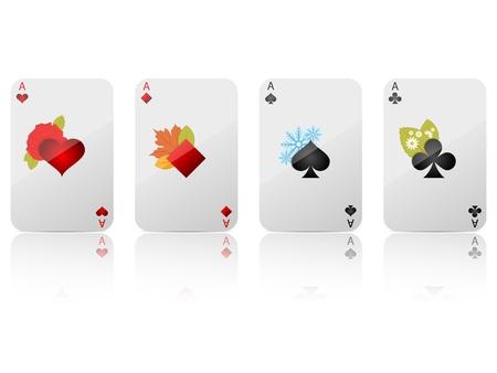 play card:  ace set