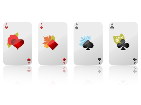 ace of hearts:  ace set