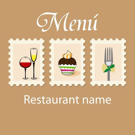 pasta fork:  menu pattern