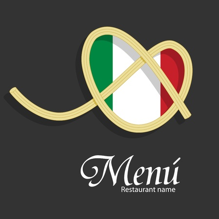 spaghetti:  menu pattern for italian restaurant Illustration