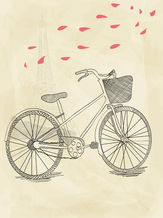 hand drawn bicycle Stock Vector - 10691534
