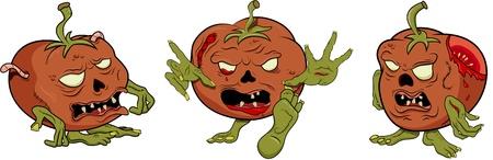 Vector tomato zombie Vector