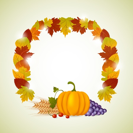 Vector pumpkin and leaves Stock Vector - 10847475