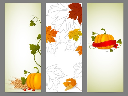 Vector fall background set Stock Vector - 10847456