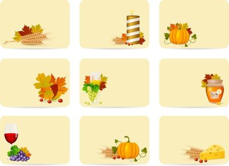 Autumn cards set Vector