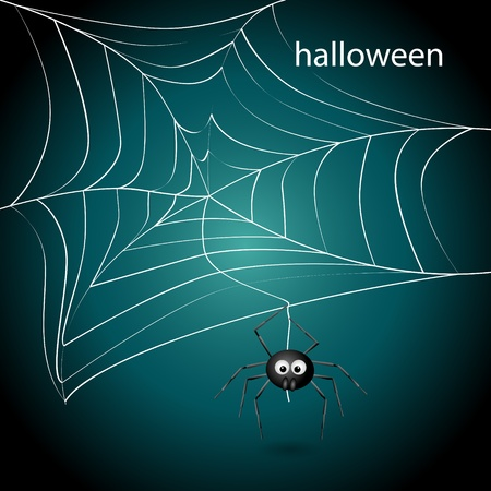 picture with spider net Illustration