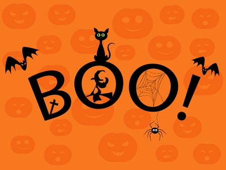 Halloween picture. Boo! Stock Vector - 10909605
