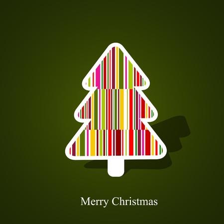 abstract christmas tree Stock Vector - 10909603