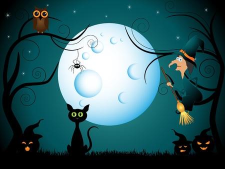 halloween picture Vector