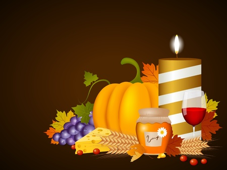 autumn fruits Vector