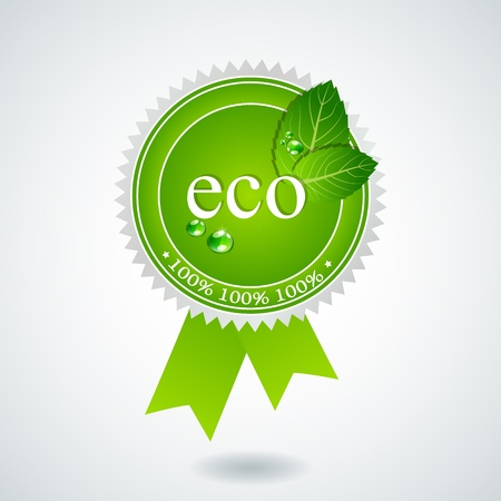 eco medal Vector