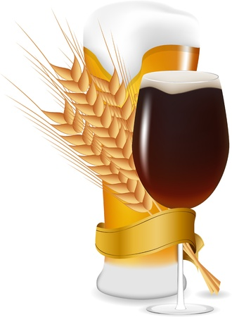 lager: Vector beer glasses Illustration