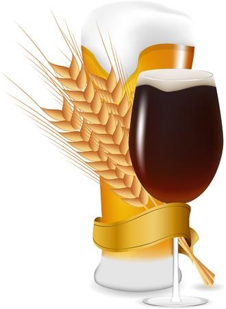 bier glazen: Vector bierglazen