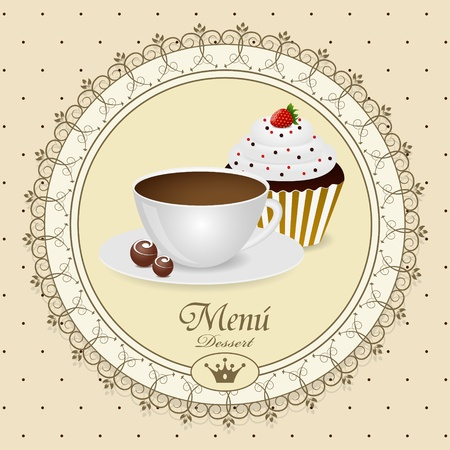 Vector dessert menu pattern Vector