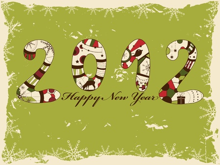 New year 2012 greeting card Stock Vector - 11084392