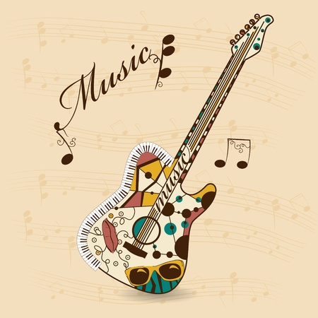 gitara: Wektor abstrakcyjne gitara