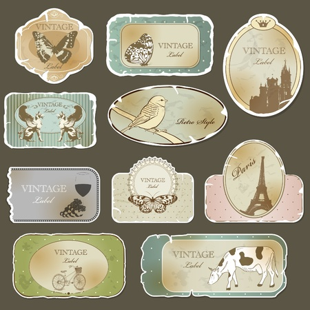 Vintage label set Stock Vector - 11140979