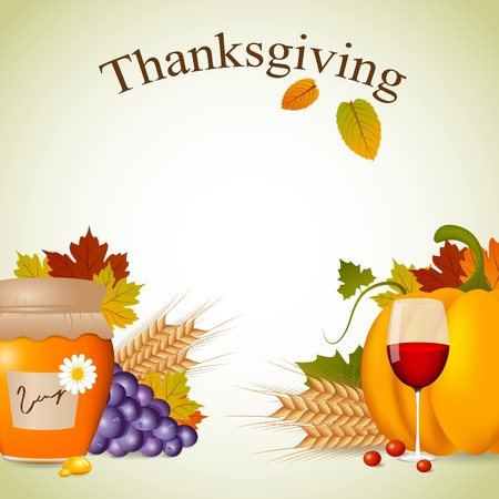 Thanksgiving greeting card Vector