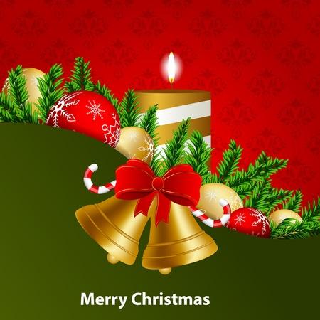kerst wenskaart Vector Illustratie