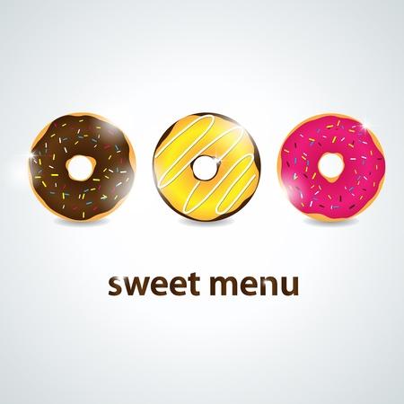 dessert menu Vector