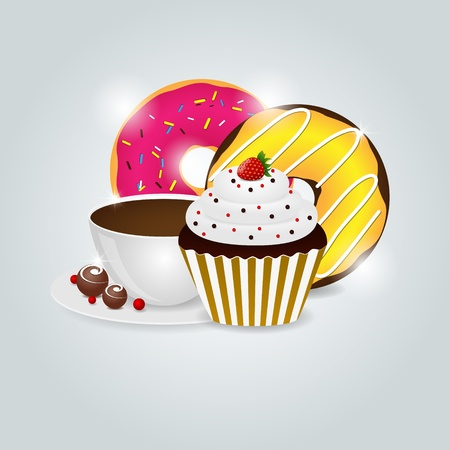 dessert menu pattern Vector